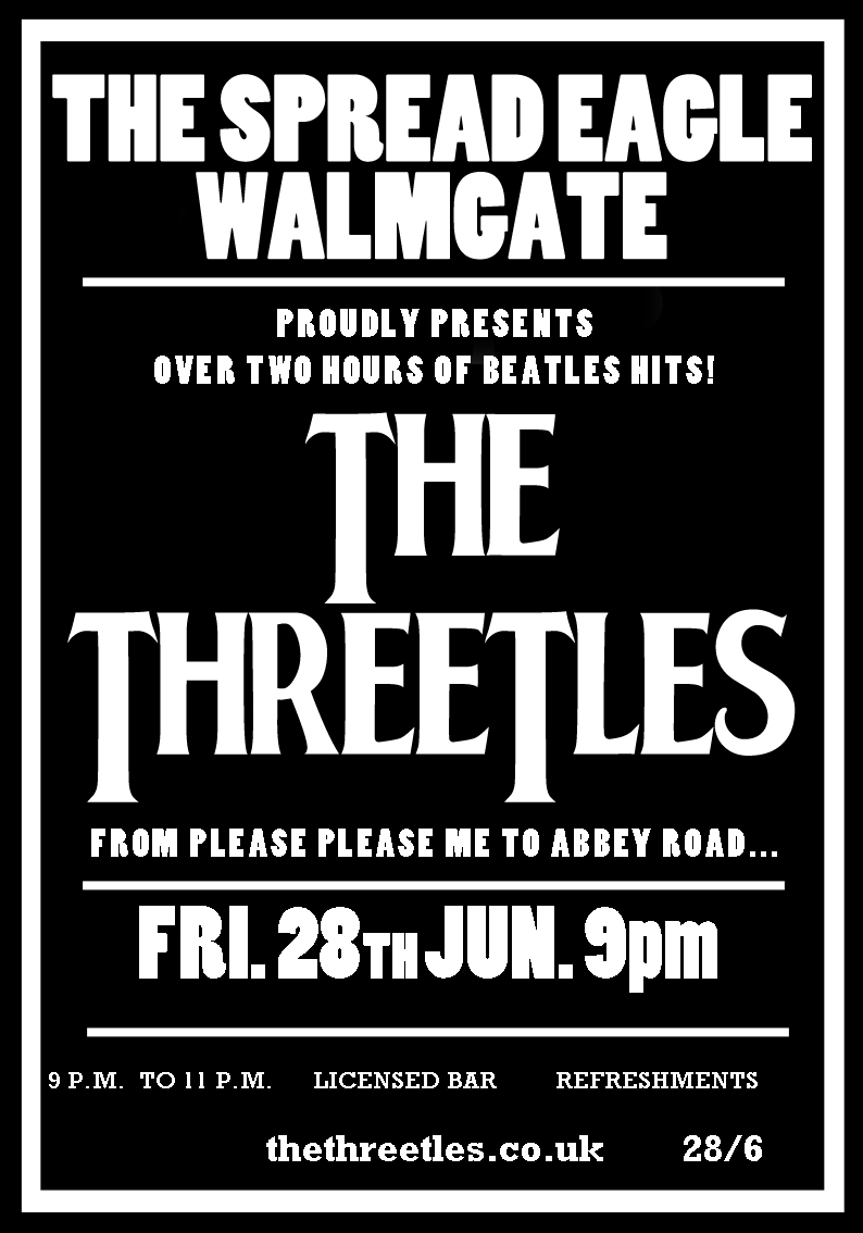 The Threetles at The Spread Eagle!